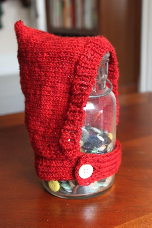 Little Red Button Jar Hood